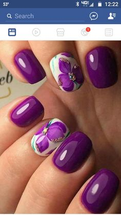 you should stay updated with latest nail art designs, nail colors, acrylic nails, coffin nails. Fancy Nails, Trendy Nails, Cute Nails, New Nail Designs, Nail Designs Spring, Purple Nail Designs, Spring Design, Hair And Nails, My Nails