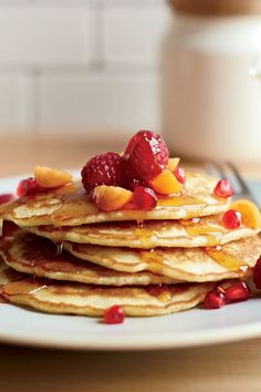 This quick and easy 30-minute pancake recipe incorporates flax seed and coconut to create the ultimate breakfast recipe. Whether you're making this pancake recipe for a quick weekday breakfast before work or pair it with eggs, bacon or sausage for a weekend brunch, it's a great choice for a brunch recipe.#brunchrecipes #breakfastrecipes #pancakerecipes #coconutpancakes