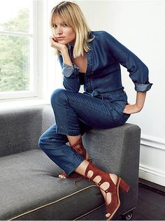 Free People Walkabout Chambray One Piece, $128.00