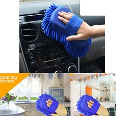 Car Cleaning Brush Cleaner Tools Microfiber Super Clean Car Cleaning Sponge Product Cloth Towel Wash Gloves Supply
