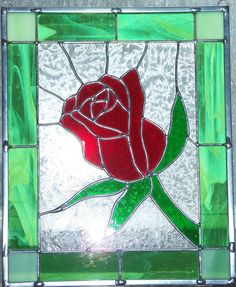 Stained Glass Rose by Micah's Glass