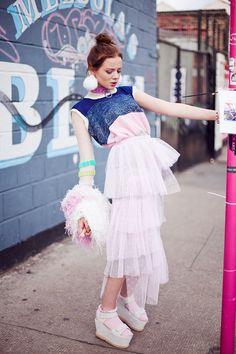 Charlotte Grace Georgina Harris and Cassandra Verity Green, styling Annie Hertikova, Material Girl Magazine