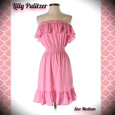 LILLY PULITZER PRETTY PINK POLKA DOT DRESS MEDIUM Pretty in pink polka dots! LILLY PULITZER STRAPLESS PINK POLKA DOT SUMMER DRESS! Size medium! Excellent PRELOVED condition!  FREE HOME!  TRADES &  OUTSIDE TRANSACTIONS - DON'T ASK! BUNDLE AND SAVE 20%!  Follow my closet ✋ NEW ITEMS ADDED DAILY! Posh compliant closet here! Happy POSHING ladies! ☀️ Lilly Pulitzer Dresses Midi