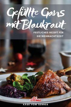 Soulfood deluxe - die gefüllte Gans mit einer Blaukraut-Beilage. Gutes Gelingen. Beef, Food, Side Dish, Meat, Eten, Ox, Ground Beef, Meals, Steak