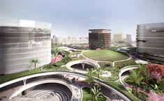 Mecanoo revela planes para estación 'verde' de trenes en Taiwán,Cortesía de Mecanoo