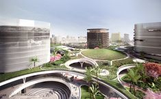 Gallery of Mecanoo Reveals Plans for Massive Green Train Station in Taiwan - 2