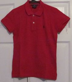 Ralph Lauren Women's Golf Shirt, XS, Red, Short Sleeved, Brand New With Tags #RalphLauren #Golf #Casual