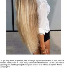 Long easy hair! AND NO SPLIT ENDS! DIY!