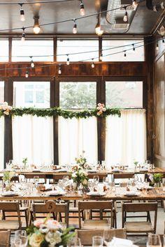elegant Brooklyn Winery wedding - photo by Ashley Caroline http://ruffledblog.com/garden-inspired-wedding-at-brooklyn-winery #weddingreception #receptions