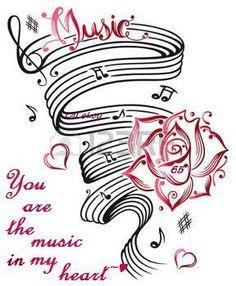 Music sheet vector image on VectorStock Music Tattoo Designs, Music Tattoos, Body Art Tattoos, Sheet Music Tattoo, Music Designs, Leg Tattoos, Music Images, Music Pictures, Musik Wallpaper