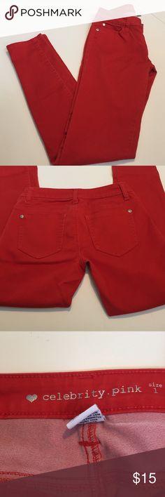 back to school sale Reddish-orange skinny jeans Celebrity Pink, Sz 1, reddish-orange stretchy skinny jeans❤️❤️ Celebrity Pink Jeans Skinny