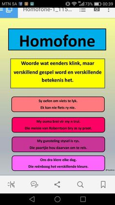 Homofone | Leer Afrikaans ken Classroom Themes, Classroom Activities, Afrikaans Language, Teacher Poems, Phonics Chart, Afrikaanse Quotes, Teaching Aids, Writing Words, Kids Learning