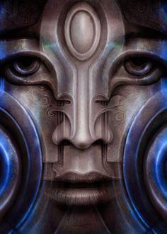 Psicomemorie ID25 - 2012 - © Daniele Del Rosso - #art #artist #painting #contemporaryart #visualarts #psicomemorie #illustration #surrealismart #surrealism #digitalart #danieledelrosso #blue