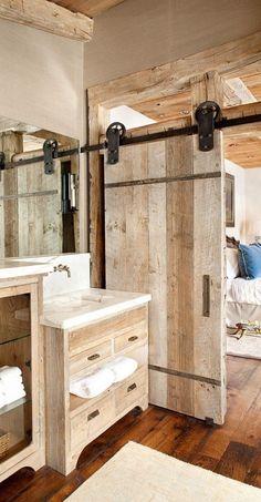 Custom-barn-door-for-the-relaxed-rustic-bathroom