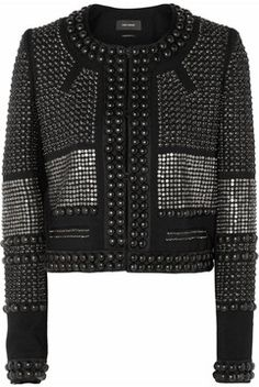 Isabel Marant Jayna studded wool-twill jacket on shopstyle.co.uk