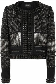 Isabel Marant Jayna studded wool-twill jacket on shopstyle.co.uk