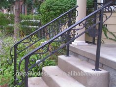 Image result for wrought iron exterior stair railing