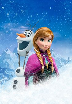 Frozen.Disney. Olaf and Anna
