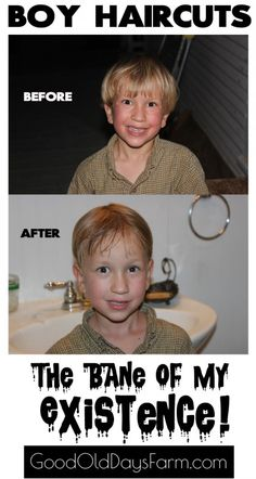 Boy Haircuts - a fun article about giving boys a haircut!
