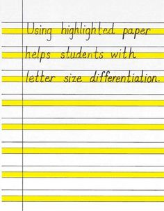 This is not really a resource but I think that this is a good thing to use because kindergartners have trouble with their letters once they learn how to write them. This will help them to see the difference in the size of letters when writing.