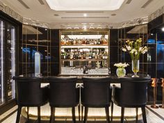Crsytal Bar at The Wellesley Hotel in London  Very beautifull one