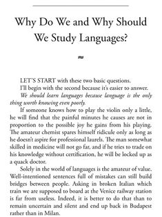 """Foreigner on German Soil — Excerpt from Kató Lomb's """"Polyglot: How I Learn. Language Study, Learn A New Language, Writing Prompts, Writing Tips, Learning Languages Tips, Learn Languages, Korean Language, Studyblr, Pretty Words"""