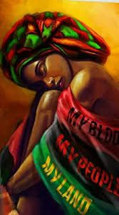 History of Black Self-Hatred in the styling of Black Hair during & after Slavery in the Black African American History video documentary: The Inferiority Seed Black Art Painting, Black Artwork, Black Love Art, Black Girl Art, Red Black, Black Hair, Jamaican Art, Afrique Art, African Art Paintings