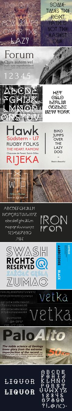 100 Greatest Free Fonts Collection for 2013 Serif, sans Serif, Slab Serif, Deco, Display