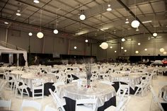Wedding Reception In An Airplane Hanger At Lunken Airport