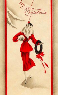 Soigné Lady at Christmas.