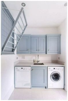 This beautiful stylish laundry will make you want to do the washing 52