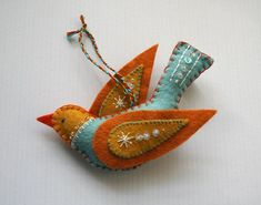 felt bird ornament | Flickr - Photo Sharing!