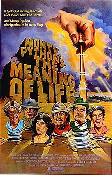 Monty Python's The Meaning of Life, also known as The Meaning of Life, is a 1983 British musical sketch comedy film written and performed by the Monty Python troupe, and directed by one of its members, Terry Jones, and was the last film to feature all six Python members before Graham Chapman's death in 1989.