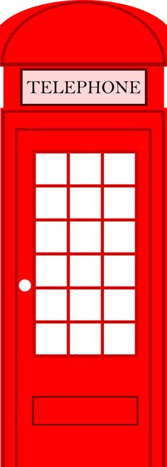 Free Image on Pixabay - Phone Box, Telephone Booth British Party, London Bus, Clipart, British Values, London Party, World Thinking Day, Telephone Booth, Queen Birthday, London Calling