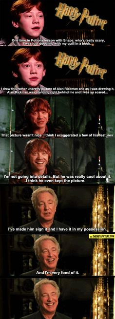 Alan Rickman has got to be one of my favorite ever people!!!