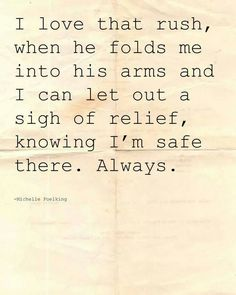 You always knew how to make me feel safe #love ❤