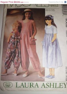 SPRING SALE McCalls 4802 Girls UNCUT Pattern by JardiniqueLtd, $7.16
