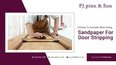 One of the easiest ways you can get back the lost appeal of your wooden door is with door stripping. The door will appear newer and look fresh for a long time. Door Stripping, Sandpaper, Wooden Doors, Lost, Fresh, Canning, Home Canning, Conservation, Wood Doors