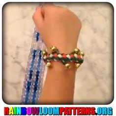 Rainbow Loom Bracelets - Jingle Bell Double Braid Bracelet