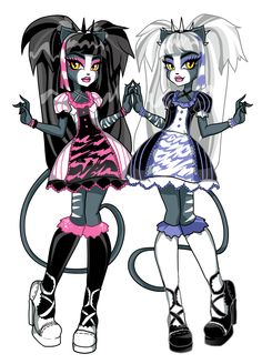 Double Trouble by Oskar Vega / RaspBeary I'm the one in black and pink and ur in purple and white