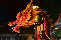 Side View Chinese Dragon Head Template   Chinese New Year Dragon Head Chinatown…