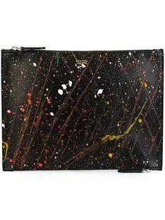 BERTONI 1949 splatter effect clutch bag. #bertoni1949 #bags #leather #clutch #hand bags #