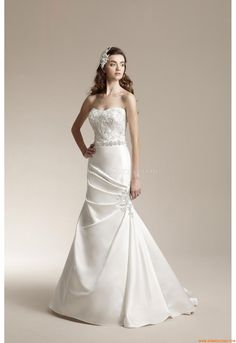 371169fff86 2014 Style Trumpet Mermaid Sweetheart Applique Sleeveless Sweep Brush Train  Satin Wedding Dresses For Bride