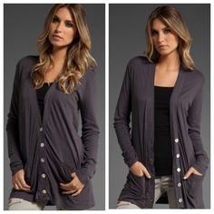 Michael Stars Bundle Included are OSFA Michael Stars Cardigan and size small Umgee NWT mesh v cold shoulder top in mauve gray. Michael Stars Tops Tees - Short Sleeve