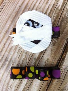 Halloween Mummy Ribbon Sculpture Set by patyg13 on Etsy, $5.50