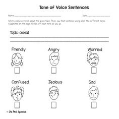 Social Skills Worksheets | Tone of Voice | Worksheets, Activities ...