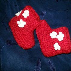 botas bebé crochet