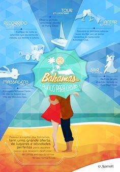 Organizando sua viagem romântica a Bahamas? Leve em consideração esses 5 inacreditáveis planos para realizar em Nassau com seu par. #férias #romantic #ideias #Love #Turismo #Marriot #HotelMarriott #Nassau #Infopraphic #Infográfica #Travel #Bahamas #Romântico