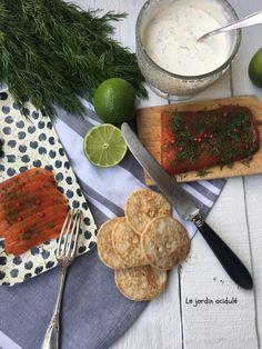 Saumon gravlax - saumon cru mariné à la suédoise. - LE JARDIN ACIDULÉ Entrees, Dairy, Fish, Comme, Alternative, Pisces, Tasty Kitchen, Skinny Kitchen