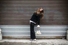 Linn Eklund in Chambéry Trousers. http://www.toteme-nyc.com/shop/ss16/chambery-trousers?color=black